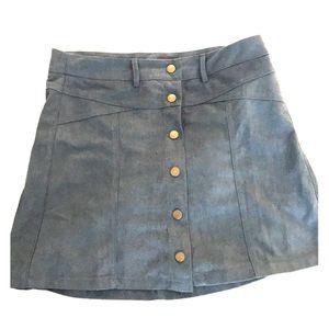 Suede mini skirt